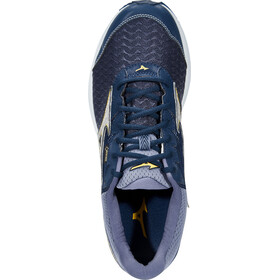 Mizuno Wave Rider 21 G-TX Shoes Men Dress Blues/Silver/Samoan Sun